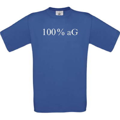 100 % aG royal blau