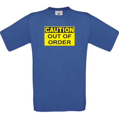 """Out of order"" royalblau"