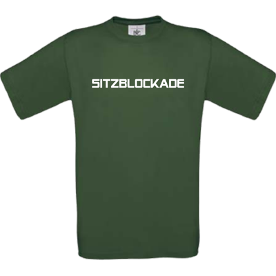 """Sitzblockade"" bottle green"