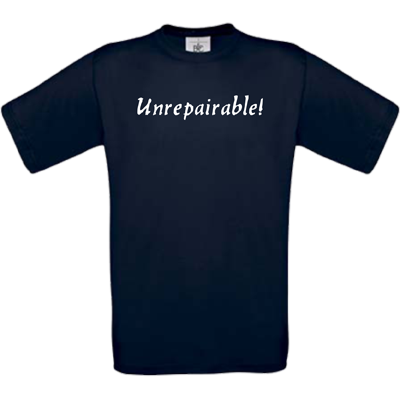 """Unrepairable"" navy"