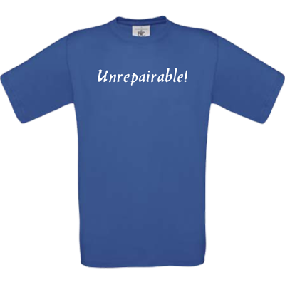 """Unrepairable"" royalblau"